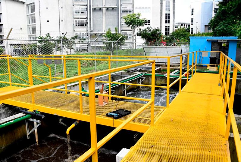 Sistema de Tratamiento de Aguas Residuales en Finca 3.